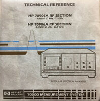 HP 70905A/70906A RF Section Modular Spectrum Analyzer Technical Reference #2250