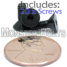 "#5-40 x 3/8"" - Qty 20 - FLAT HEAD Socket Cap Screws - Alloy Steel Black Oxide"