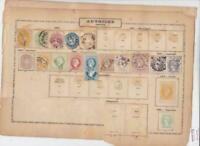 austria empire stamps on 2 pages 1863 - 1900 ref r10776A