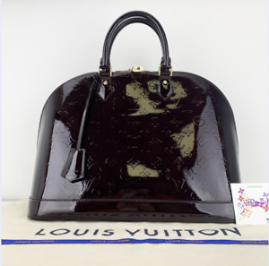 Louis Vuitton Vernis Leather Alma GM in Amarante