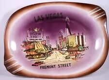 Lg CERAMIC LAS VEGAS ASHTRAY Fremont St Casino Golden Nugget Horseshoe Souvenir