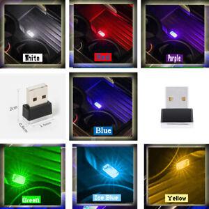 Mini Flexible USB LED Light Colorful Light For Car Atmosphere Lamp Bright