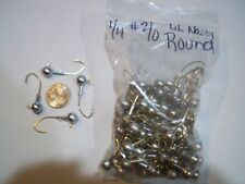 1/4oz #2/0 ROUND HEAD LEAD HEAD JIG EAGLE CLAW LIL NASTY SICKLE - GOLD 100ct