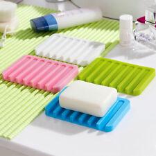 Neu Silikon Seifenschale Seifenablage Platte Badezimmer Seifenhalter