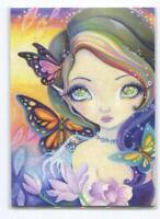 ACEO S/N L/E WINTER PIXIE GIRL RAINBOW SPIRITUAL HAIR GARDEN FANTASY RARE PRINT