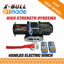 X-BULL 12V 3000LB Electric Winch Kit ATV Synthetic Rope Wireless Remote Control