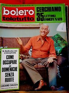 BOLERO TELETUTTO 1394 1973 FABRIZIO DE ANDRE' SALCE Terence Hill DI CAPRI