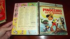 W/D PINOCCHIO AND THE WHALE~OLD Little golden book Al White D71:30 PRE 1966 good