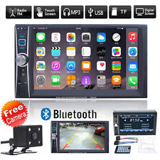 Bluetooth 2Din 6.6in Touch Screen GPS Car Stereo MP5 Player AM FM Radio + Camera