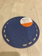 "Le Creuset 8"" French Silicone Trivet Cobalt Blue Surface Protector Pot Holder"