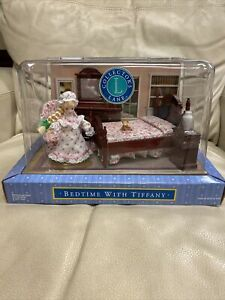 New! Bedtime With Tiffany Collectors Lane Doll Set Miniature Furniture Bedroom.