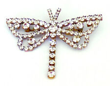Luxury Vintage Czech Handmade Rhinestones Brooch Butterfly Decoration Pin