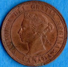 Canada 1886 1 Cent One Large Cent Coin - EF+