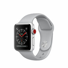 Apple Watch Series 3 LTE 42mm Smartwatch Uhr GPS Fitness Cellular silber weiß