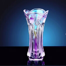 Vintage Style Tulip Glass Flower Vase Decoration Home Wedding Decor Purple