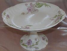 Ancien grand compotier porcelaine Limoges W. Guerin  décor floral Art Nouveau