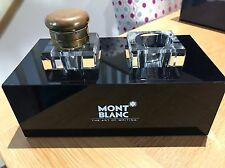 Montblanc Dual Ink Stand With 2 Crystal Wells