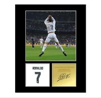 Cristiano Ronaldo Signed Photo Mount (Pre Printed Autograph) Gift For a Fan