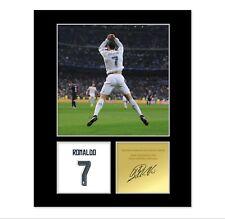 Cristiano Ronaldo Signed Photo Mount (Pre Printed Autograph) Gift For a Fan