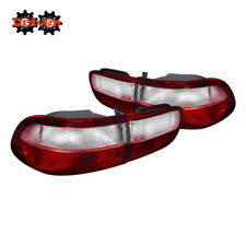 92-95 Honda Civic EJ EH Sedan Coupe Si Red Clear Tail lights Frosted OE Style 4p
