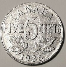 1935 CANADA  5 Cent Nickel Coin KING GEORGE V