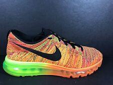 Nike Flyknit Max Men's Size 12 Running Shoes Air 360 620469 801 Total Orange