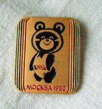 pin badge Olympic games Moscow 1980 Misha Bear mascot