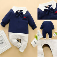 ❤️Newborn Intant Baby Boys Gentleman Clothes Romper Top Jumpsuit Clothes Outfits