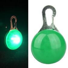LED Pet Dog Cat Collar Nite Night Light Safety Clip Flashing Neon Pendant EP