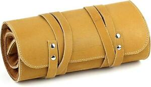 Mr. Brog Full Grain Leather Tobacco Pipe Roll Up Pouch - Tan