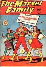 Marvel Family #23 Photocopy Comic Book, Captain Marvel, Mary Marvel