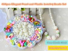 460pcs Summer Elegant Pearl Plastic Jewelry Beads Kids Crafts DIY in Flower Case
