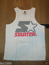 Genuine Starter Vest With Geo Astro Tank Top White with Black & Red S New BNWT
