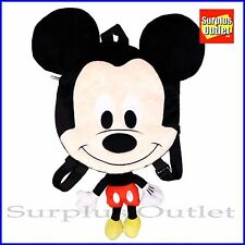 "Disney Mickey Mouse Plush Doll Backpack 20"" Flat Costume Bag"