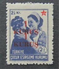nystamps Turkey Stamp Mint OG NH Double Ovpt Error   L16y1172