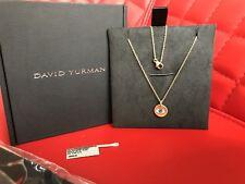 David Yurman Evil Eye Necklace 18K Gold -NIB