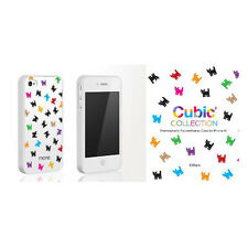 MoreThing Kitten Cubic Collection case for iPhone 4/4S+Crystal Screen protector