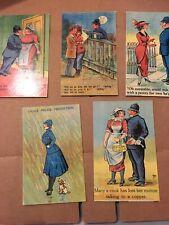 5 X Humous Police Postcards