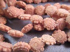 Camel Bones Carved Beads 32pcs