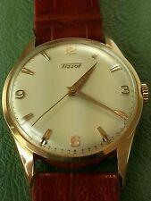 Vintage Swiss Tissot 14k Rose/Pink SOLID Gold Watch(Recently SERVICED&Polished)
