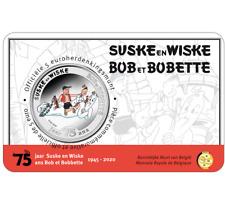 Belgie 5 euro 2020 Suske & Wiske Bob & Bobette BU coincard €5 Belgique COLOR