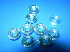 M5 FLANGE NUTS BZP (Bright Zinc Plate) Pack of 10