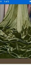 1m olive GREEN  spandex lycra strech VELOUR  FABRIC 58INCES WIDE