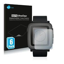 6x Displayschutzfolie für Pebble Time Klar Transparent Schutzfolie Displayfolie