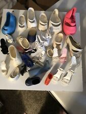 Lot Of Vintage Doll Shoes Various Sizes & Colors 2 Pair, 28 Singles