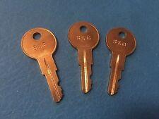 3 Liberty safe day lock dials keys ( Works All ) key Code No. SGR615
