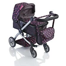 More details for molly dolly 2 in 1 deluxe babyboo doll stroller/pram buggy pink girls junior toy