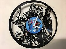Repurposed Vinyl Record Clocks and Wall Art -  Frozen-3