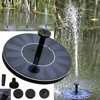 BRAND NEW Solar Bird bath Fountain Pump for Garden and Patio, Free Standing 1.4W
