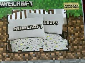 Gray Minecraft 4 Piece Full Sheet Set